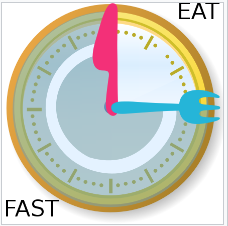 clock with fork and knife